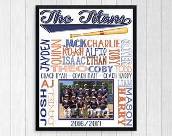 BASEBALL TEAM GIFT ~ Baseball Coach Gift ~ Baseball Team Gift ~ Baseball Printable ~ Custom Baseball Gift ~ Personalized Coach Gift