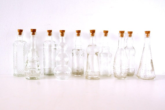 Decorative Clear Glass Bottles Mesmerizing Decorative Clear Glass Bottles With Corks 5 Tall Set Inspiration Design