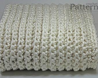 "Crochet PATTERN / Chunky Afghan / Fisherman Style Sofa Throw / 60"" x 48""/(152 x 122) / PDF 6048"