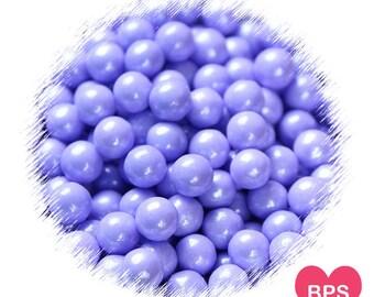 Pearl Purple Sugar Pearls, Purple Sprinkles, 7mm Candy Beads, Frozen Party Sprinkles, Purple Cake Pearls, Cupcake Pearls, Purple Toppings