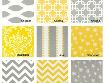 Yellow or Gray Table runner - Pick your favorite - Decorative table cloth- 13 X 96 inches- Yellow and Gray