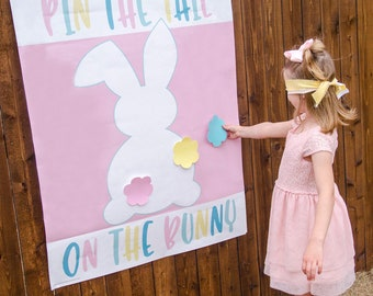 Pin The Tail On The Bunny Easter Printable Game (INSTANT DOWNLOAD) by Love The Day