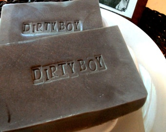 MENS SOAP, Dirty Boy Soap For Men, Bar Style Soap, Guy Soap, Father's Day Soap, For Him, Innuendo Fun Dirty Boy Soap, Stamped Soap, Handmade