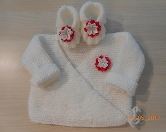 Brasssiere 0/3 month baby booties