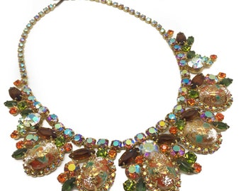 DeLizza & Elster Juliana Vintage 1950s Jewelry Necklace Easter Egg Necklace Increasingly Rare Piece of Jewellery Wearable Art