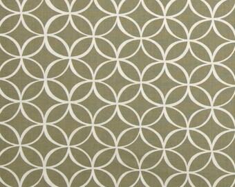 Taupe Fabric - Michael Miller Tile Pile Fabric - Taupe Geometric Fabric