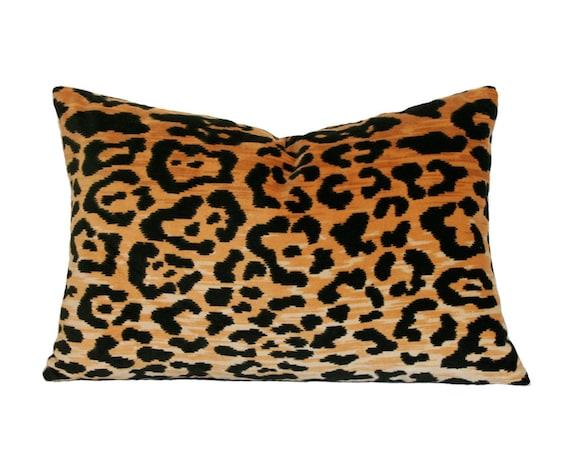 Leopard Velvet Lumbar Pillow Cover Made-to-Order