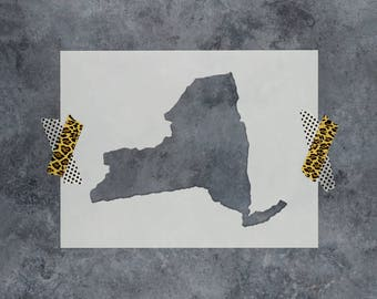 New York State Stencil - Hand Drawn Reusable Mylar Stencil Template