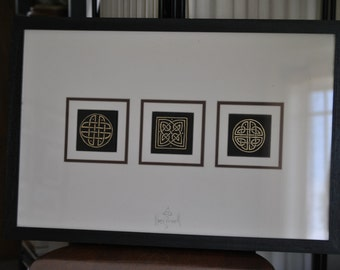 Oil Painting of 3 Celtic Knots