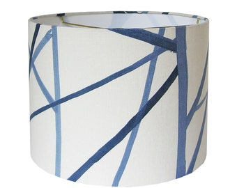 Custom Lamp Shade   Blue Lampshade   Channels Lamp Shades   Kelly Werstler    Groundworks Lee