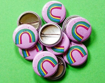 25mm Rainbow badge