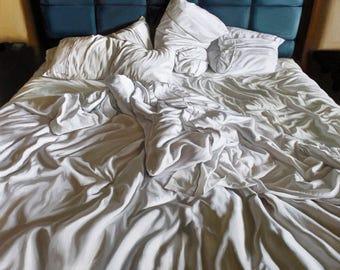 "Fine Art Print Giclée Print Limited Edition Original Painting Hotel Bed 10""x10"""