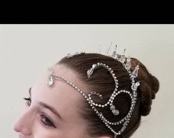 Swarovski, crystal and rhinestone Ballet Headpiece