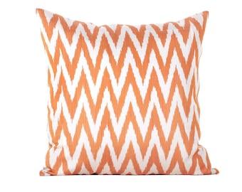 22x22 Traditional Handmade Fabric Ikat Pillow Cover – Decorative Pillow
