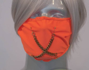 Orange J-Rock Surgical Mask