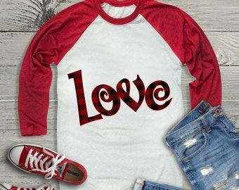 Valentine SVG, Plaid Love SVG, Plaid Heart svg, SVG, Eps, Dxf, Png Files for Silhouette Studio, Cricut Design Space