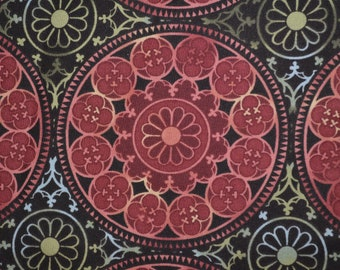 Novelty In the Beginning Fabric Camelot Jason Yenter by the yard Moroccan mandala terra cotta medallions ethnic Boho quilting patchwork