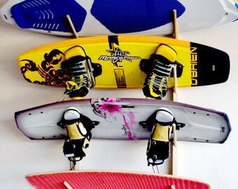 4 Wakeboard, Wakeskate, Wakesurf Board Wall Rack