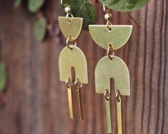 Elenor Earrings // Brass