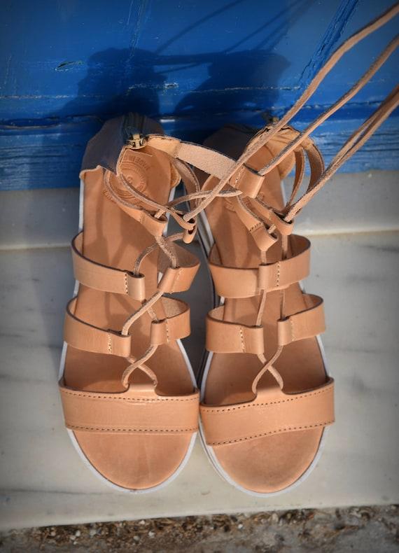 Up sandals Sandals Tie Lace Leather Tie sandals Platform up Women's Greek Gladiator sandals up Sandals gladiator Sandals Sandals 1qp7pUHwx