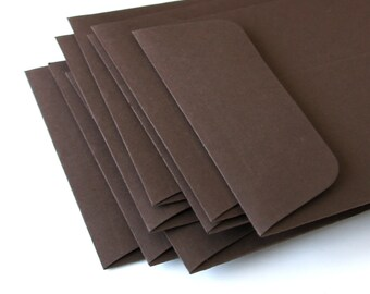 """Open End Business Envelopes . Number 10 Size (4 1/8"""" x 9 1/2"""") in Chocolate Brown"""