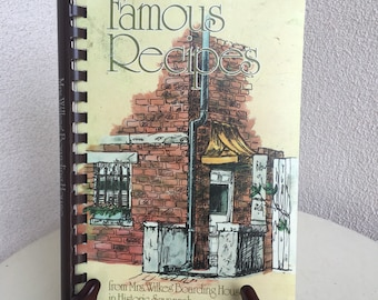 Vintage 1976 paperback cookbook Famous Recipes by Mrs. Wilkes &boarding house of Savannah Georgia signed