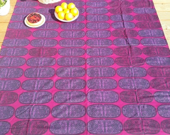 Picnic blanket Marimekko Satula purple ovals Modern EXTRA LARGE blanket and Bag Beach blanket Summer Picnic blanket Outside blanket GIFT