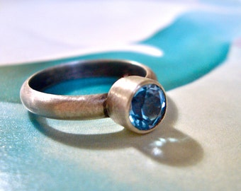 Glitz Ring in Swiss Blue Topaz and Sterling Silver