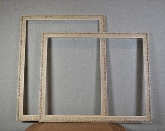 16x20 Frames Vintage Beige Textured Design with Optional Custom Matting