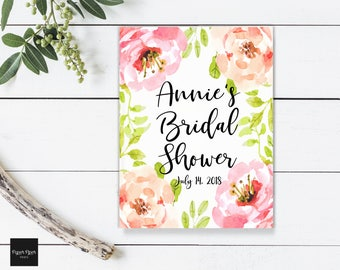 Bridal Shower Guest Book Wedding Guest Book Wedding Guestbook Pink Floral Guest Book Wedding Keepsake Bridal Shower Gift Engagement Book