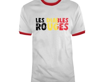 Belgium Soccer Football World Cup 2018 Soccer Fan Les Diables Rouges Distressed T Shirt