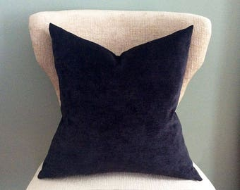 Black Velvet Pillow cover, Pillow Cover, Solid velvet pillow, throw pillow, black pillow cover, accent pillow