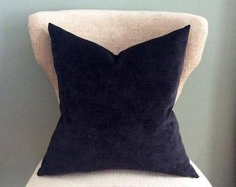Black Velvet Pillow cover, Pillow Cover, Solid velvet pillow, throw pillow, black pillow cover, accent pillow