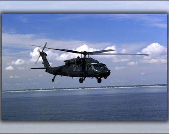 Poster, Many Sizes Available; Mh-60L Black Hawk Helicopter From Company D, 160Th Special Operations Aviation Regiment (Airborne) Uh-60
