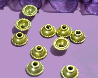 10 cups diameter 10mm round antique gold