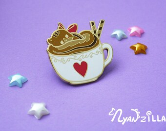 Enamel Pin: Cappuccirrel the Cappuccino Squirrel Pin