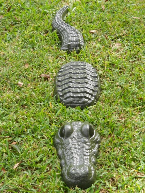 3 Piece Alligator Statue 48 Inch