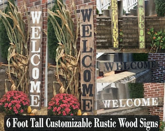 Wood welcome signs, Wooden welcome sign, Rustic welcome sign, Rustic wood sign, Porch welcome sign, Welcome porch sign, Large welcome signs