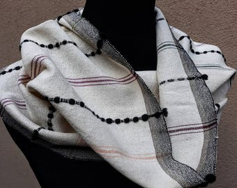 Handwoven infinity scarf