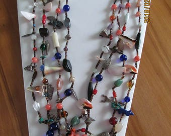 Beaded, Sterling silver charms, shells, gemstone, heishi , coral