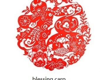 Tranditional Chinese Paper Cut Art-Carps