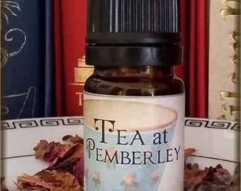 TEA AT PEMBERLEY Regency Tea Vegan Perfume Oil / inspired by Pride and Prejudice Perfume / Floral tea scent / Jane Austen inspired