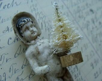 One DOZEN Farmhouse White Dreamy Christmas Bottle Brush Tree Lot French Chic