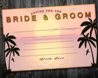 Tropical Themed Advice Card, Personalised Digital File
