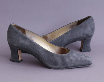 Vintage italian grey suede shoes
