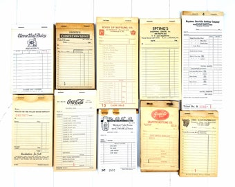 Vintage Receipt Set/Vintage Receipts /Vintage Receipt Set /Unused Vintage Receipts /Vintage Receipt Pack /Vintage Ephemera/ Ephemera Pack