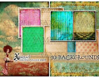 Collage Sheet - JPEG Backgrounds 1 -