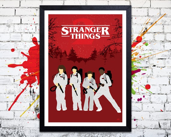 Stranger Things 2 // 'Ghostbusters' // Minimalist TV Poster // Unique Art Print