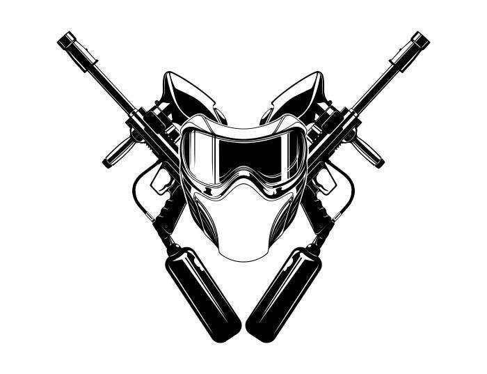 Paintball gun vector