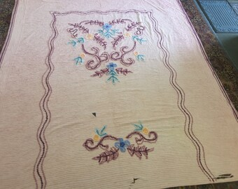 Decorative Vintage Chenille Bedspread